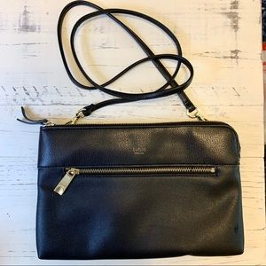 Tutilo Black Crossbody Bag & Clutch